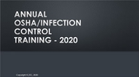 2020 OSHA/Infection Control Annual Update Training